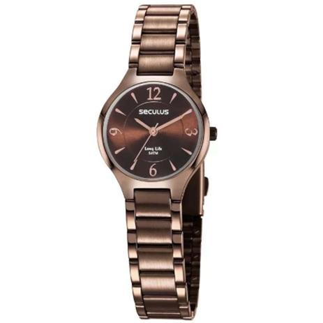d8e31cdb023 Relógio Feminino Seculus Fashion 77042LPSVMA2 - Rosé Chocolate ...