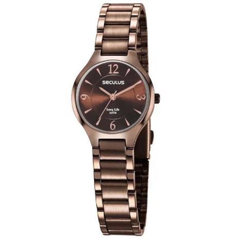 Imagem de Relógio Feminino Seculus Fashion 77042LPSVMA2 - Rosé/Chocolate