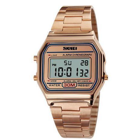 a01fa998bec Relógio Feminino Skmei Digital 1123 Rosê - Relógio Feminino ...