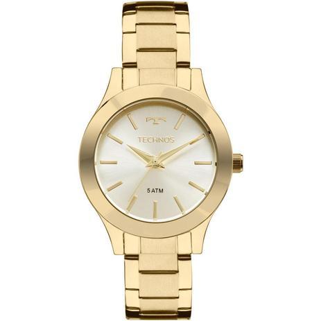 cafc114505ce3 Relógio Feminino Technos 2035MKQ 4X 32mm Aço Dourado - Relógio ...