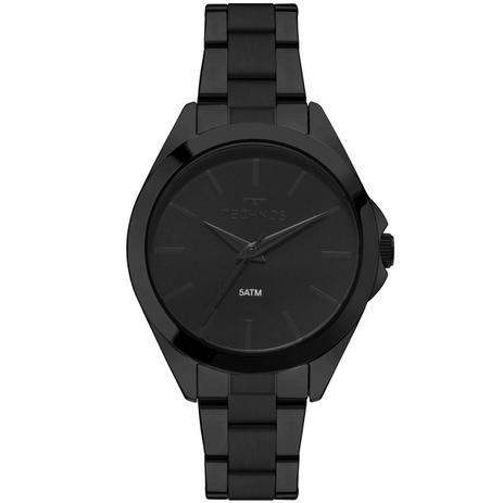 4fefd3d5b84 Relógio Feminino Technos 2035MLL 4P Pulseira Aço Preta - Relógio ...