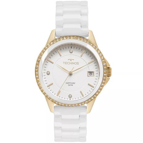 12d53a97fdf Relógio Feminino Technos 2315KZS 4B Ceramica Branca - Relógio ...