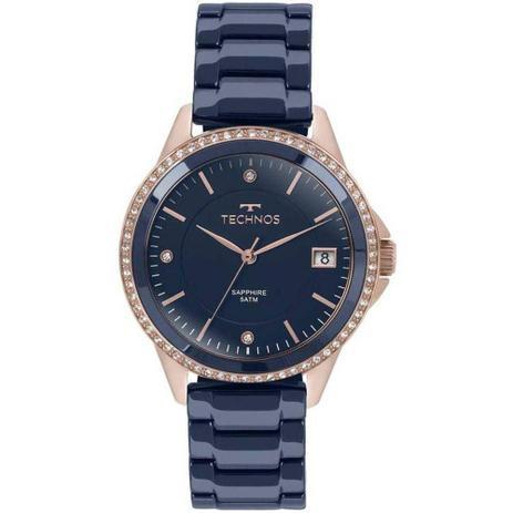 871cabc23db Relógio Feminino Technos 2315KZT 4A - Rosê Azul - Relógio Feminino ...