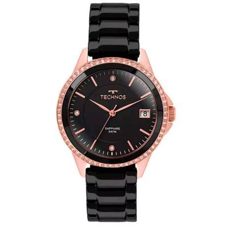 87fab01f5b4c8 Relógio Feminino Technos Analógico 2315KZR 4P - Rosê Preto - Relógio ...