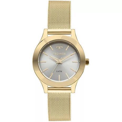 7ba55b9fcc4 Relógio Feminino Technos Boutique 2035MKR 4V 32mm Pulseira Aço Dourada