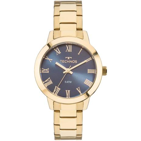 5ab9e3c40cdec Relógio Feminino Technos Boutique 2035MKU 4A Pulseira Aço Dourada ...