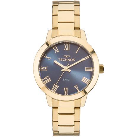 Relógio Feminino Technos Boutique 2035MKU 4A Pulseira Aço Dourada ... cd30e8d660