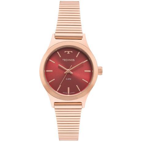 3b92509ca2142 Relógio Feminino Technos Boutique 2035MQI 5R 30mm Aço Rosé - Relógio ...