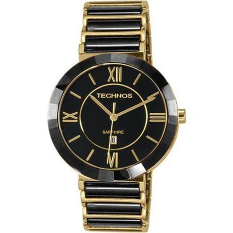 Relógio Feminino Technos Ceramic 2015BV 4P - Dourado Preto - Relógio ... 41e1c58d8f