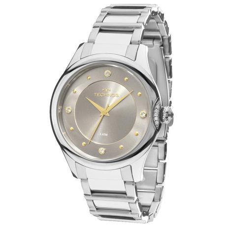 1edf7180e1a Relógio Feminino Technos Crystal 2035MFS 3C 38mm Aço Prata - Relógio ...