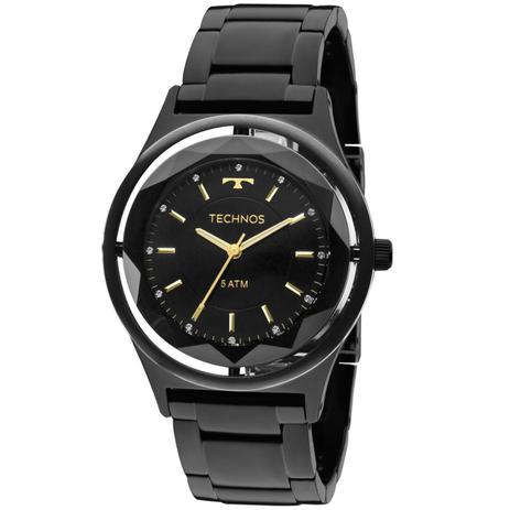 44b142dc131 Relógio Feminino Technos Crystal 2035MIB 4P Pulseira Aço Preta ...