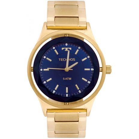 Relógio Feminino Technos Crystal 2035MIC 4A 39mm Aço Dourado ... c0d91d72e0