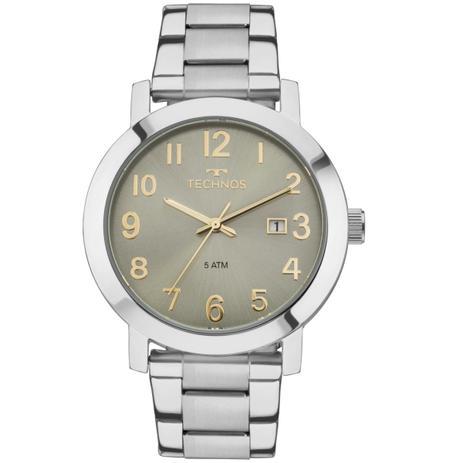 322fe6acfd9 Relógio Feminino Technos Dress 2115MNE 4V Pulseira Aço Prata ...