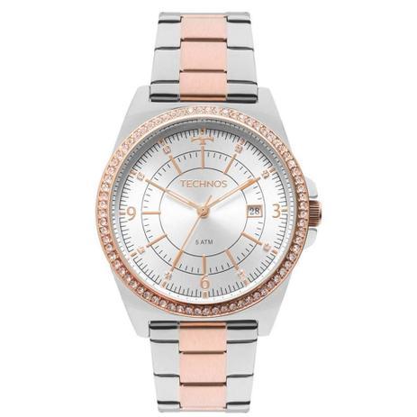 df34b589350 Relógio Feminino Technos Elegance 2115MMP 5K - Prata Rosê - Relógio ...
