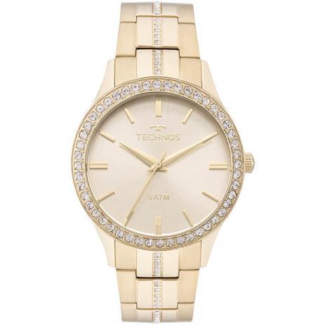 d5f27c8763 Relógio Feminino Technos Elegance Crystal 2035MMK 4X - Dourado ...