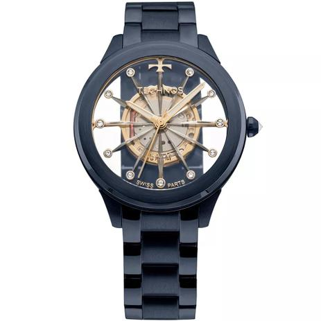 Relógio Feminino Technos Elegance F03101AD 4W Aço Azul - Relógio ... 3e2d0f5f74