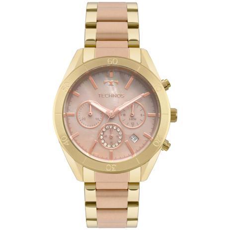 192e949a474 Relógio Feminino Technos Elegance Ladies JS25BW 5M 40mm Aço Dourado Rose