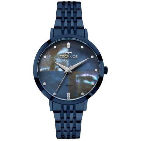46e140b3c8683 Relógio Feminino Technos Fashion Trend 2036MJH 5A Azul - Relógio ...
