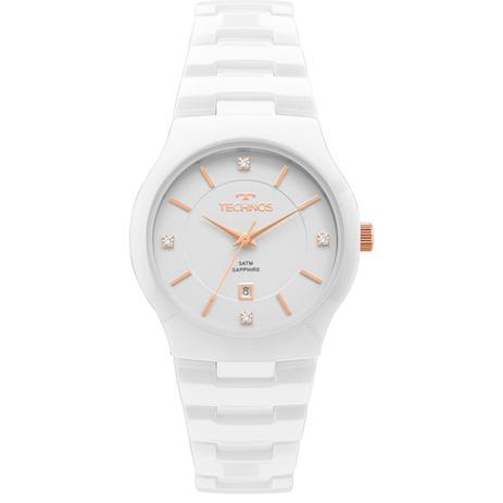 c8288876ae5 Relógio Feminino Technos GN10AV 4B 35mm Ceramica Branca - Relógio ...