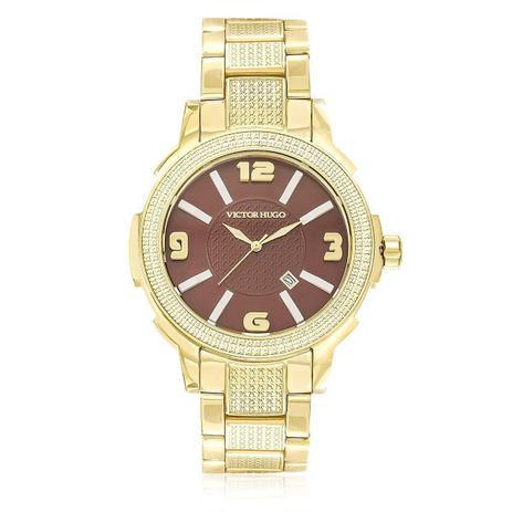 a26132d44 Relógio Feminino Victor Hugo Analógico 10086LSG/12M dourado ...
