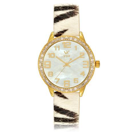 884c9a537d4 Relogio Feminino Vox Analogico Beverly Hills Fashion Dourado Detalhes  Madreperola e Zirconias