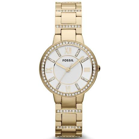 536f25741d6f82 Relógio Fossil Feminino Ref: Es3283/4bn Social Dourado - Relógio ...
