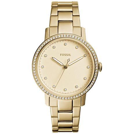 6e5a8c822a0 Relógio Fossil Feminino Ref  Es4289 4dn Slim Dourado - Relógio ...