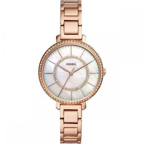 254cf5d6aa0cc Relógio Fossil Feminino Ref  Es4452 1jn Fashion Rosé - Relógio ...