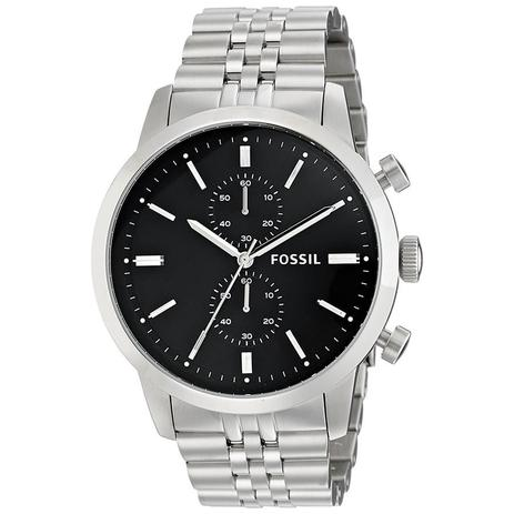 Relógio Fossil Masculino Ref  Fs4784 1pn Cronografo Prateado ... 887237af20