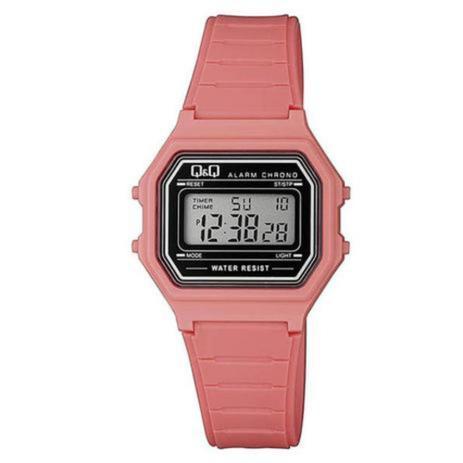Imagem de Relógio Infantil Feminino Rosa Quadrado Digital Com Alarme e Cronômetro Silicone A Prova D'água Original e Nota Fiscal