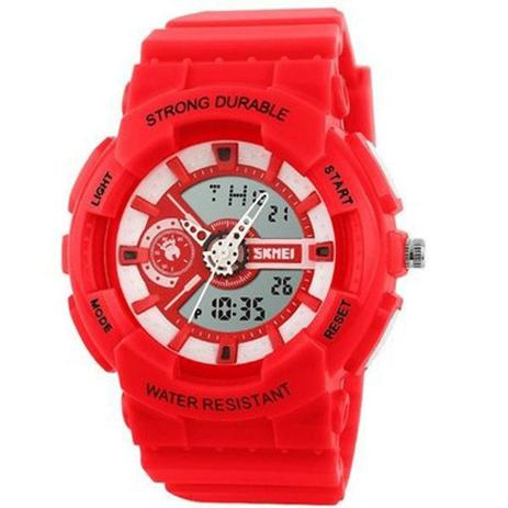 c7b85a8b043 Relógio Infantil Skmei Anadigi 1052 Vermelho - Relógio Infantil ...