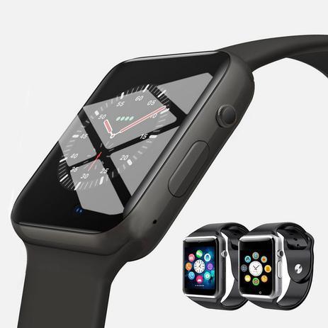 Imagem de Relogio Inteligente Bluetooth Smartwatch A1 Camera Ios/android preto