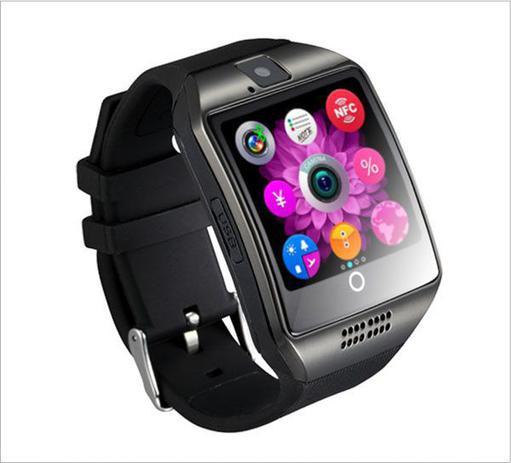 f1a663524c8 Relogio inteligente Q18 Smartwatch P  Android com câmera - Preto ...