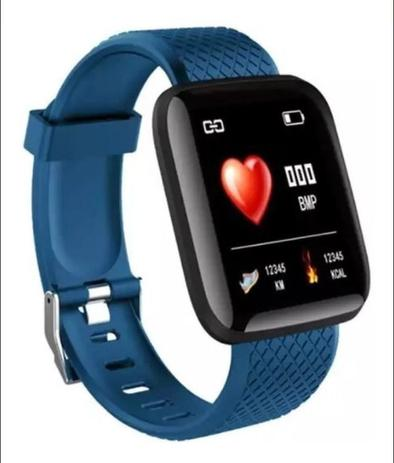 Imagem de Relogio Inteligente Smartwatch D13 Azul Pedometro Multi-esportes Km Kcal FC PA Sono