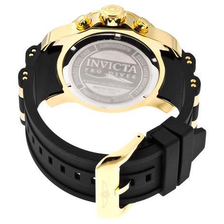 4951e3f097a Relógio Invicta Pro Diver 6981 Preto Dourado + Chaveiro Multiuso 11 Funções