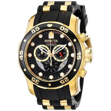 8b025c0745a Relógio Invicta Pro Diver Dourado Masculino 6981 - Relógio Masculino ...