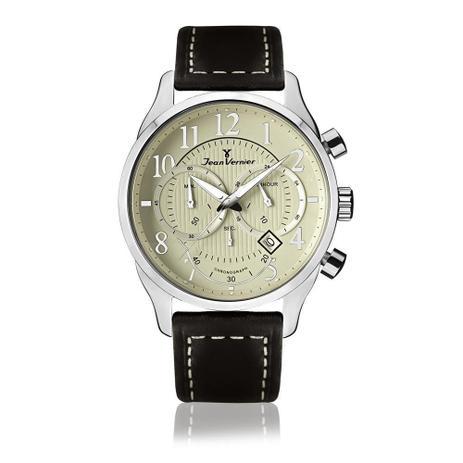 420d8da8bbe Relógio Jean Vernier Masculino Ref  Jv5205 Cronógrafo Prateado ...