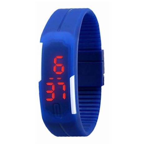 408a0f08421 Relógio Led Digital Sport Bracelete Pulseira Silicone - Azul - Lelong