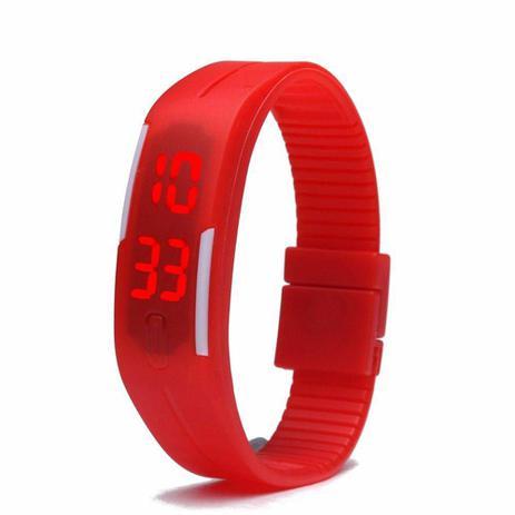 ee37d19d6a2 Relógio Led Digital Sport Bracelete Pulseira Silicone - Vermelho - Lelong