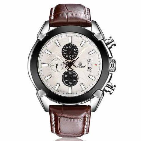 4b8d7401f2e Relógio Liandu Original De Luxo Couro E Com Cronógrafo - Relógios e ...