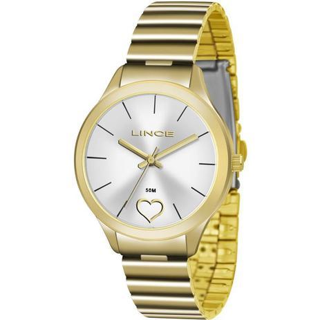 07ba27c8e9a Relógio Lince Feminino Analógico Dourado LRG4430LS1KX - Relógio ...