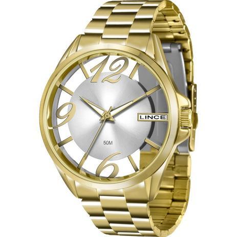 e593f159f5b Relógio Lince Feminino Analógico Dourado LRG604LS2KX - Relógio ...
