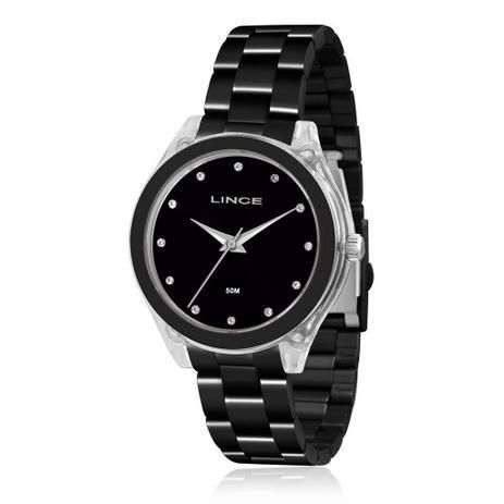 e04156c992 Relógio Lince Feminino Analógico Preto LRN4431PP1PX