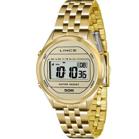 7140770562e Relógio Lince Feminino Digital Dourado SDPH020LBXKX - Relógio ...