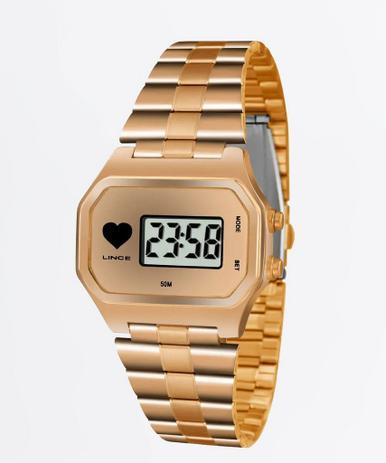 ce6070e87 Relógio Lince Feminino Digital Rosé SDR4480LBRRX - Relógio Feminino ...