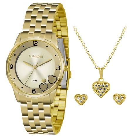 2142c632531 Relógio Lince Feminino Kit Lrg4517l Ku35