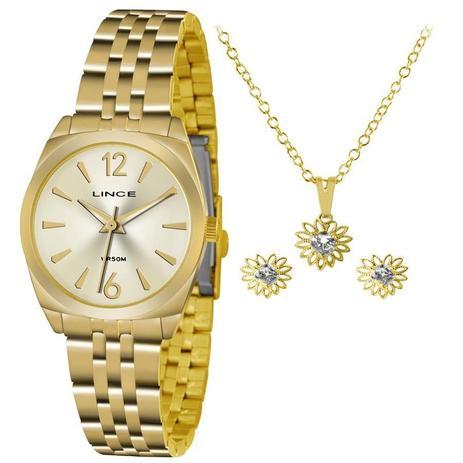 a76492e2ac9 Relógio Lince Feminino Lrgh073l Ku68c2kx Dourado + Semijóia ...