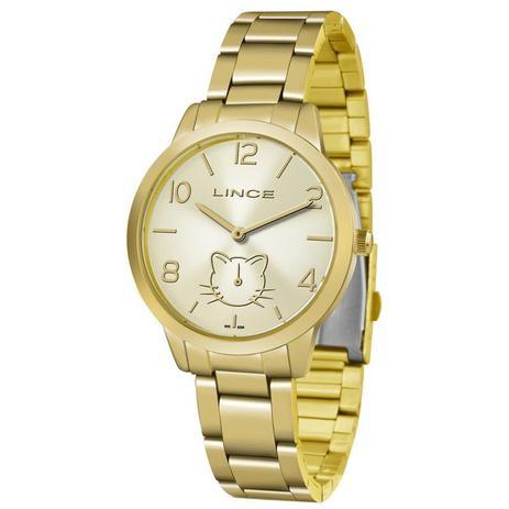 c019cb5a250 Relógio Lince Feminino Ref  Lmg4574l C2kx Casual Dourado - Relógio ...