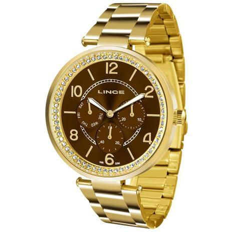 9fd0aa9bd87 Relógio Lince Feminino Ref  Lmgj068l M2kx Multifunção Dourado ...