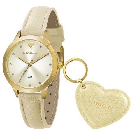 856fff0cf7b Relógio Lince Feminino Ref  Lrc4508l Ku58c1tx Dourado + Chaveiro ...